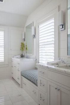 Bathroom with Window Seat, Cottage, Bathroom, Duffy Design Group