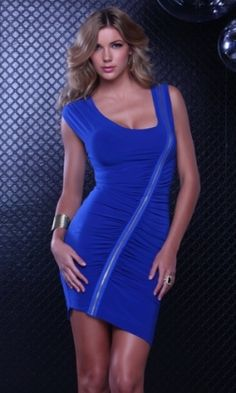 Blue Zipper  Sexy Clubear is for you to have a amazing night