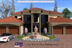We Design Until Approval Double Storey House Plans, Double Story House, Modern House Plans, House Floor Plans, Modern Houses, 6 Bedroom House Plans, Exterior Paint Colors, Paint Colours, Flat Roof House