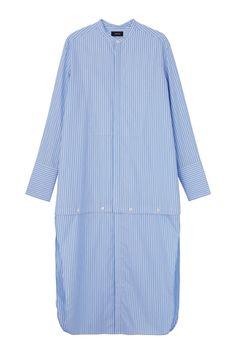 アンダーカバー 丈の長さを自由にアレンジできるロングシャツ。