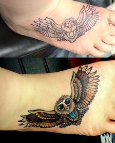 owl tattoo maybe on back of neck?
