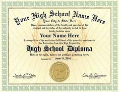 Looking for High School Diploma Template With Seal? Here are some awesome High School Diploma Template With Seals. Homeschool High School, Homeschool Diploma, Homeschooling, Free High School Diploma, High Diploma, Graduation Certificate Template, Certificate Templates, High School Transcript, University Diploma