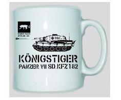 Tasse Königstiger Panzer VII SD.KFZ 182 / mehr Infos auf: www.Guntia-Militaria-Shop.de