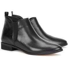 Womens Flat Boots Michael Kors Brandy Black Leather Ankle Boots ($240) ❤ liked on Polyvore featuring shoes, boots, ankle booties, black boots, flat ankle boots, flat black booties, black ankle boots and black leather booties