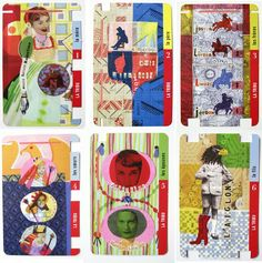 """Chaque famille est illustrée par un illustrateur contemporain. Hannah Ben Meyer ouvre l'offensive avec la famille """"Tribu"""". Jeu de 7 familles. Les Napolissons. Exposition Napoléon Musée de Corse."""