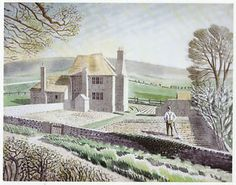 Shepherds Cottage, Firle by Eric Ravilious, 1934