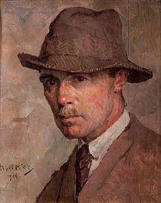 Hendrik Jan Wolter (Dutch 1873-1952) - Zelfportret (1924)