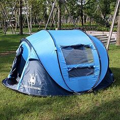 Outdoor Camping Hiking Large Instant Pop Up Tent - Double Doors Two Windows http://campingtentslovers.com/alps-mountaineering-lynx-1-person-tent/