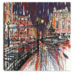 Lane Loves all things Piccadilly! Piccadilly Passion Boxed Canvas by Paul Kenton. Limited Edition.