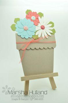Marsha Hulland - Smudge Smudge....Ink Ink!: Flower Pot Card, Blossom Party Die