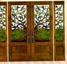 Wow!!! Stained glass french doors