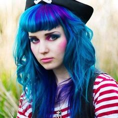 beautiful photos of all shades of blue hair!