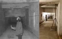 "Another ""then and now"" picture, Alcatraz Dungeon beneath the Main Cell Block. [photos courtesy of Elvin Willie (1970) and Terri Austin (2015)]"