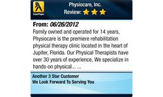 Family owned and operated for 14 years, Physiocare is the premiere rehabilitation physical...