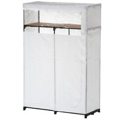 69 in h x 46 in w x 20 in d portable closet with top shelf in white