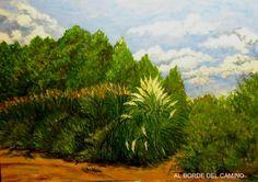 BORDEANDO EL CAMINO Painting, Art, Drive Way, Scenery, Art Background, Painting Art, Kunst, Paintings, Performing Arts