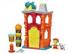 Massinha Play-Doh Town Quartel Bombeiro - Hasbro com Acessórios