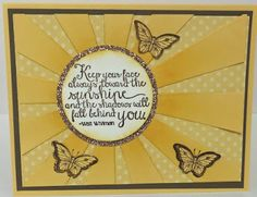 Devoted Stamper: Ray of Sunshine and Papillon Potpourri