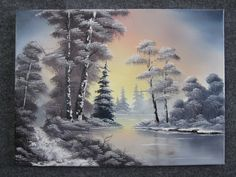 """Snowy Sunset Lake"" by Kevin Hill"