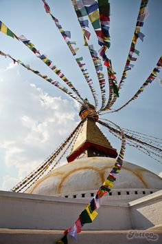 Boudhanath Stupa (or Bodnath Stupa) - the largest stupa in Nepal and the holiest Tibetan Buddhist temple outside Tibet.