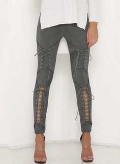 Skinny Polyester Trousers Pants & Leggings (1097078) @ floryday.com