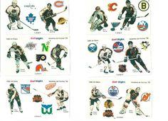1989 ~ 90 KRAFT NHL ALLSTAR STICKER SET ~ GRETZKY ~ YZERMAN ~ LEMIEUX ETC.