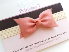 Girls/Baby Bow Headband. Dusty Rose Baby by BowtiquebyprincessT, $7.90