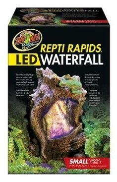 REPTILE - TERRARIUM DECOR - REPTIRAPIDS LED WATERFALL WOOD - SMALL - ZOO MED/AQUATROL, INC - UPC: 97612910223 - DEPT: REPTILE PRODUCTS