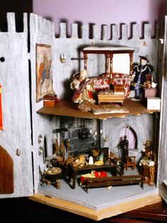 A scale Castle set in Tudor times. Named after Norman - who made the castle shell for me. Norman Castle, Thing 1, Tudor, Dollhouse Miniatures, Scale, Xmas, Furniture, Home Decor, Weighing Scale