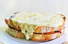 Croque Monsieur Ham and Cheese Sandwich Croque Monsieur Vegan, Monsieur Parfait, Buffalo S, Ham And Cheese, Swiss Cheese, Gruyere Cheese, Cheese Sandwich Recipes, Healthy Sandwiches, Dumpling Recipe