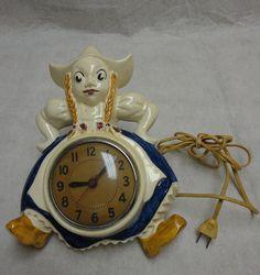 Rare Red Wing Mursen Dutch Girl Clock by GrandpaJoesAttic on Etsy