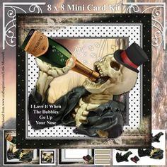 Mr Bones on Craftsuprint - View Now! Mr Bones, Card Kit, Card Designs, Decoupage, Card Making, Baseball Cards, Mini, Birthday, Card Patterns