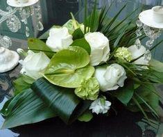 centre table blanc vert