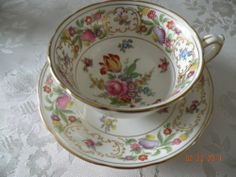 Hammersley Dresden Sprays China Cup and Saucer