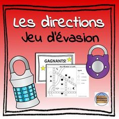 Les directions: Jeu d& - French Directions Escape French Basics, Ap French, Core French, French Class, Teach Yourself French, Teacher Introduction, Breakout Boxes, Recording Sheets, Room Style