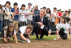 Memorial: The Duke of Cambridge also helped plant poppy seeds at the park...