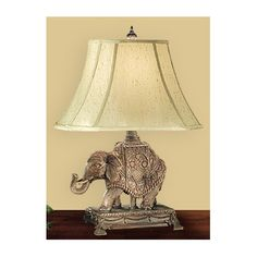 "JB Hirsch Home Decor Safari Occasinosl 29"" H Table Lamp with Bell Shade"