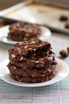DOUBLE CHOCOLATE CAKE MIX COOKIES...  ½ cup butter; 1 egg; 1 packet instant coffee dissolved in 2 tablespoons water; 1 tablespoons oil; ½ teaspoon vanilla; 1 box chocolate cake mix; 1 ½ cup chocolate chips; 1 ½ cup white chocolate chips.