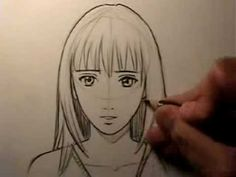 """How To Draw a """"Realistic"""" Manga Face: Female - YouTube"""
