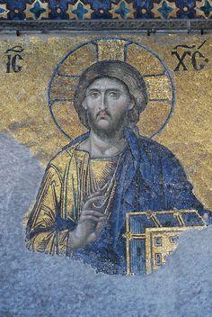 the deeisis mosaic hagia sophia | Deesis mosaic of Christ in Hagia Sophia, Istanbul | Flickr - Photo ...