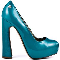 Bring out your inner fashionista and pull together a fabulous look with the Brandii.  This style features a unique flared 5 inch heel covered in an emerald patent that extends through out the upper.  A slight squared off toe brings you a concealed 1 inch platform to put a pep in your step.