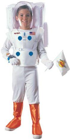 NASA Astronaut Costume Kids Children Boy White Inflatable Tank and Helmet