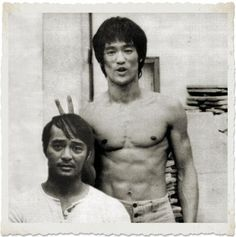Bruce Lee giving Dan Inosanto bunny ears...this cracks me up!