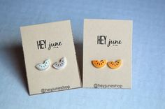 Watermelon stud earrings watermelon earrings by heyjuneshop