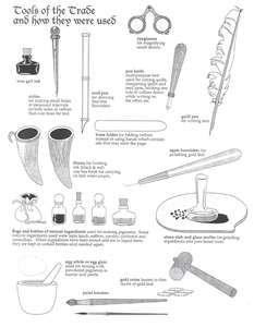 Medieval Illuminator's Tools of the Trade