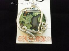 Round Ocean Jasper Pendant by KL Jewelry Design on Etsy, $18.00