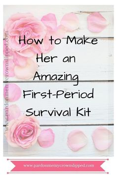 Periods suck no matter the age...offer some comfort by making her a first-period kit to let her know how much you understand #periods #puberty #teens #tweens #girls
