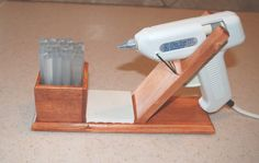 glue gun stand. I NEED THIS!!!