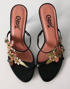 Vintage CARLOS SANTANA Shoes // Pink Black by FoxyBritVintage, $32.00
