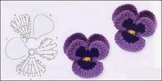 crochet instructions for lots of types of flowers 001